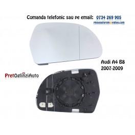 Geam oglinda stanga cu incalzire AUDI A4 B8 2007-2009