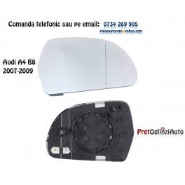Geam oglinda dreapta cu incalzire AUDI A4 B8 2007-2009